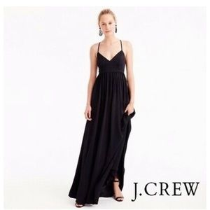 J. Crew Long Drapey Spaghetti-Strap Maxi Dress